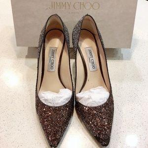 Jimmy Choo Romy 85 Coarse Glitter Pump
